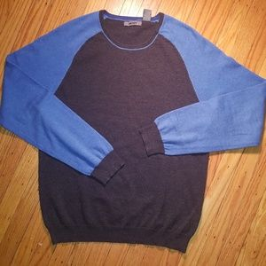 DKNY Men's Pullover Sweater | Gray & Blue | Large